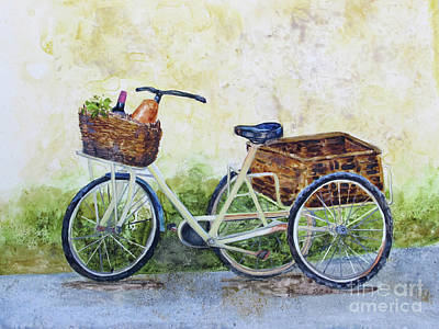 Market Day Painting - Shopping Day In Lucca Italy by Bonnie Rinier