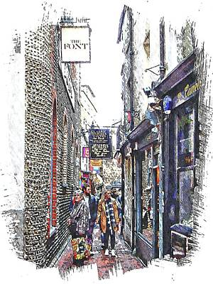 Photograph - Shopping In The Lanes Brighton by Dorothy Berry-Lound