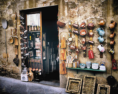 Photograph - Shopping In Tuscany by Pennie McCracken