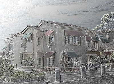 Digital Photograph - Shopping Mall Laguna Hills by Arline Wagner