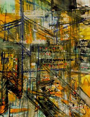 Painting - Shopping  by Nancy Kane Chapman