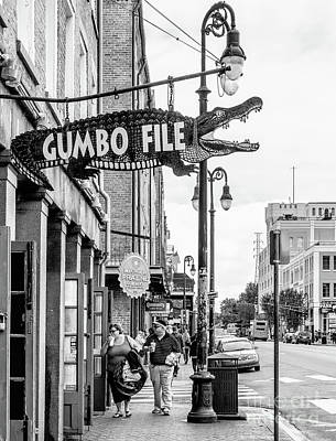 Photograph - Shopping On Decatur St.- Nola -bw by Kathleen K Parker