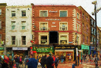 shopping on Grafton Street in Dublin Art Print