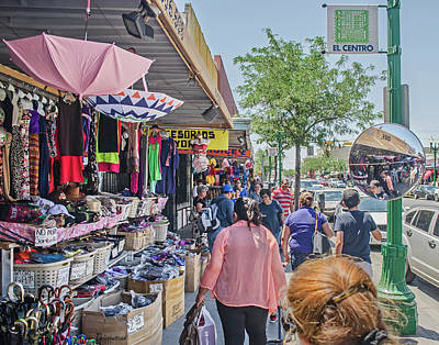Photograph - Shopping On South El Paso Street by Allen Sheffield