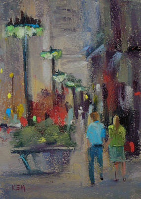 Painting - Shopping On The Mag Mile by Karen Margulis