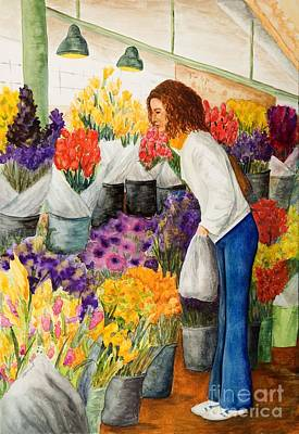 Painting - Shopping Pike's Market by Vicki  Housel