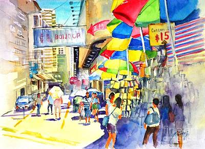 Painting - Shopping Spree by Betty M M   Wong