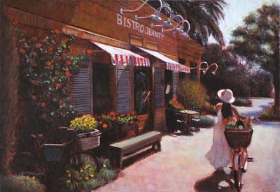 Shopping Wine In Napa Valley Art Print by Takayuki Harada