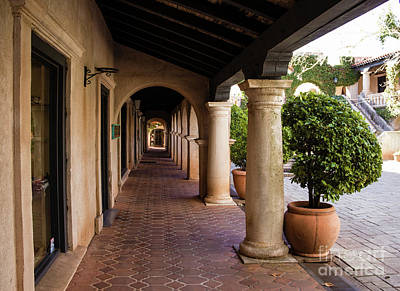 Shops And Columns Art Print by Jon Burch Photography