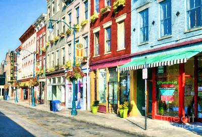 Photograph - Shops At Cincinnati's Findlay Market by Mel Steinhauer