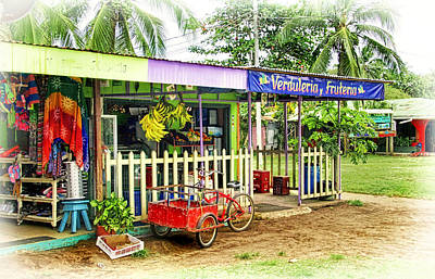 Photograph - Shops In Tortuguero Village by Carolyn Derstine