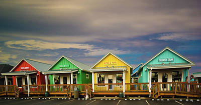 Shops Of Ocean Shores Art Print