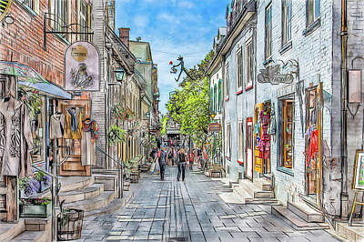 Photograph - Shops Of Old Quebec City by Erwin Spinner