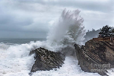 Photograph - Shore Acres Storm Waves by Tim Moore
