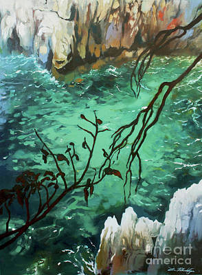 Painting - Shore At Cap Ferrat by Lin Petershagen