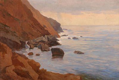 Painting - Shore At Ragusa by Georg Holub