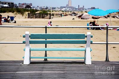 Shore Bench Art Print by John Rizzuto