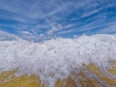 Photograph - Shore Break by Byron Fair