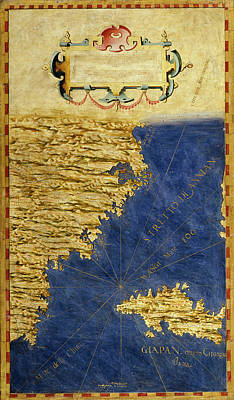 Sphere Painting - Shore Of China And Japan by Italian painter of the 16th century