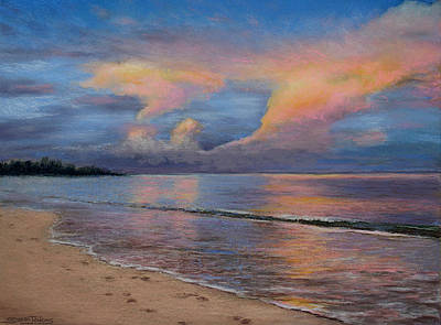 Pastel - Shore Of Solitude by Susan Jenkins