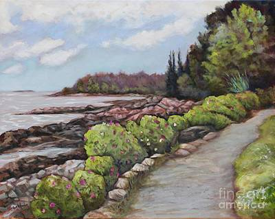 Maine Shore Painting - Shore Path by Eve  Wheeler
