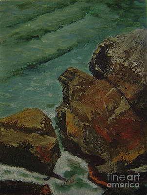 Painting - Shore Rocks by Lilibeth Andre
