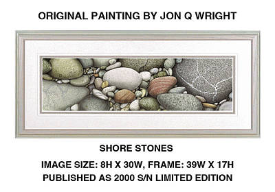 Chicago Painting - Shore Stones by Jon Q Wright