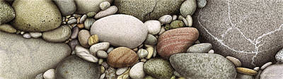 Shore Stones Art Print by JQ Licensing