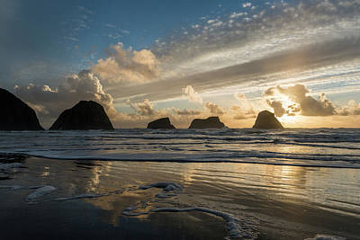 Photograph - Shore Sunset by Robert Potts