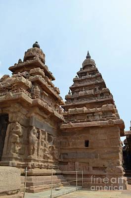 Digital Art - Shore Temple Mahabalipuram 1 by Eva Kaufman