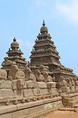 Digital Art - Shore Temple Mahabalipuram 2 by Eva Kaufman