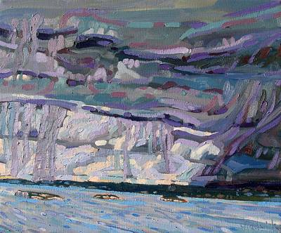 Landscape Painting - Shore To Shore Showers by Phil Chadwick