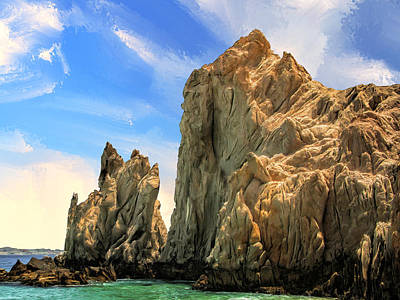 Sea Of Cortez Painting - Shorecliffs Near Los Cabos by Dominic Piperata