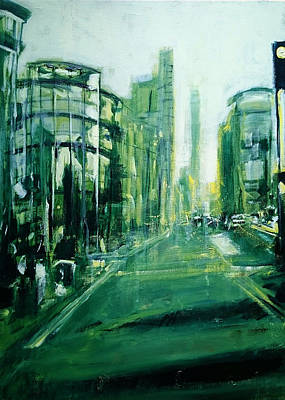 Painting - Shoreditch Dusk by Paul Mitchell