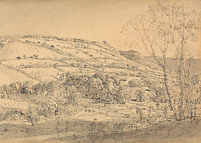 Drawing - Shoreham, Kent by Samuel Palmer