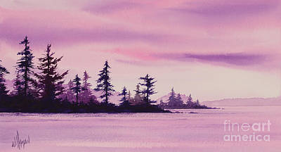 Painting - Shoreland Sunset by James Williamson