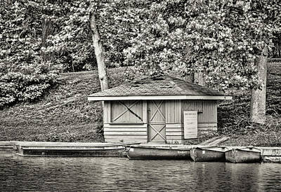 Photograph - Shoreline Boat Shed And 4 Boats - 2a by Greg Jackson
