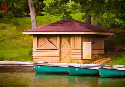 Photograph - Shoreline Boat Shed by Greg Jackson