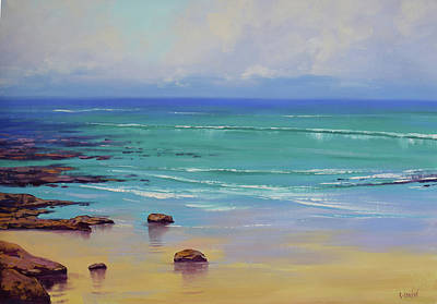 Impressionist Beach Painting - Shoreline Colors by Graham Gercken