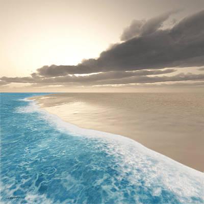 Shore Digital Art - Shoreline by Cynthia Decker