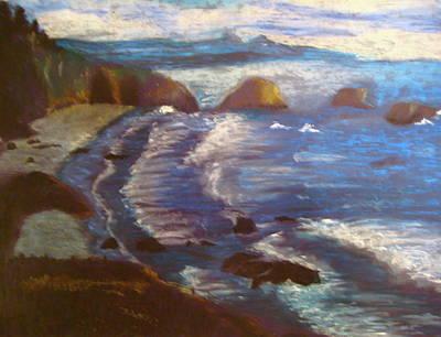 Beach Landscape Drawing - Shoreline by Emily Jones