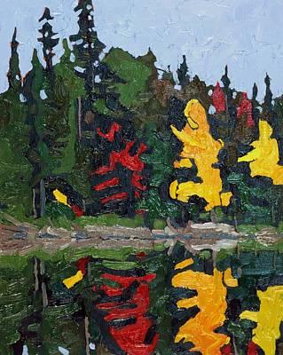 Shoreline Foliage Original by Phil Chadwick