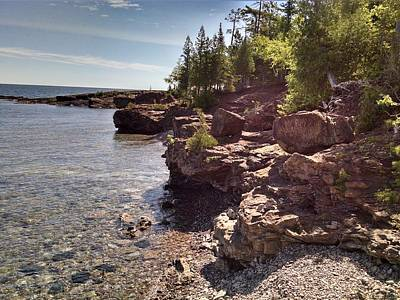 Photograph - Shoreline In The Upper Michigan by Alan Casadei