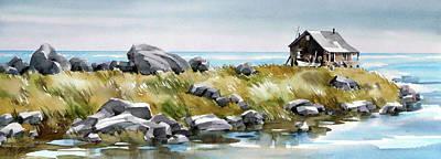 Shoreline Living Art Print by Art Scholz