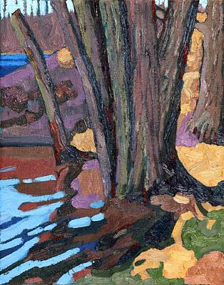 Shoreline Maples Art Print