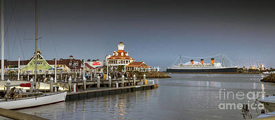 Photograph - Shoreline Marina Yachts Queen Mary by David Zanzinger