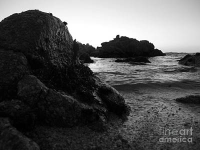Photograph - Shoreline Monolith Monochrome by James B Toy