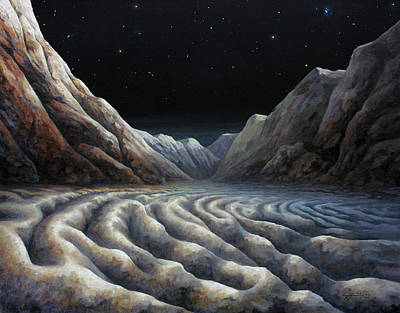 Painting - Shoreline Of Sputnik Planum by Lucy West