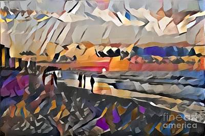 Polaroid Camera - Shoreline on the Ocean by Douglas Sacha