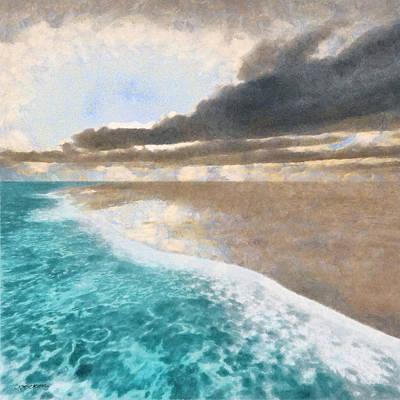 Shore Digital Art - Shoreline Painted by Cynthia Decker